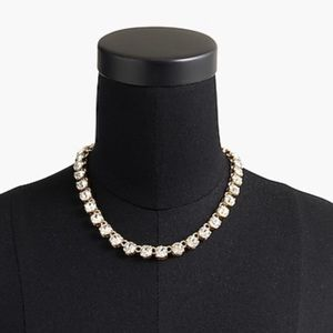 J. Crew Swarovski crystal dot necklace
